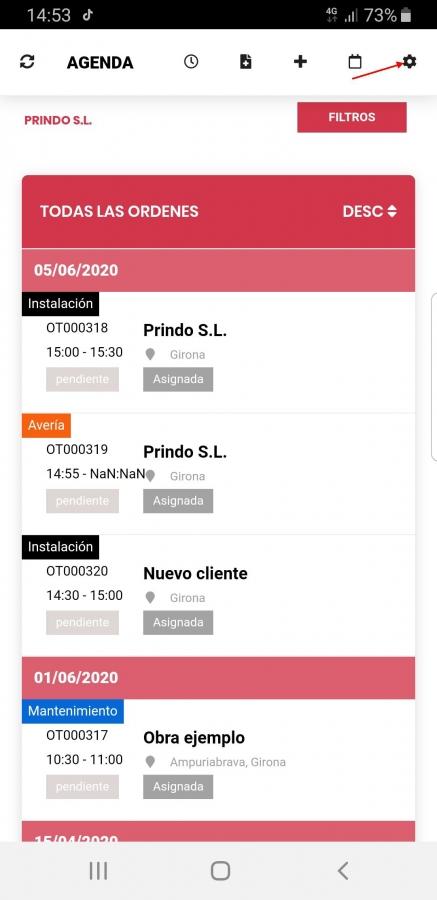 Congifuración App Móvil