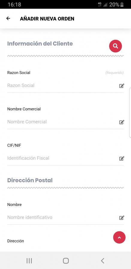 Crear Nueva Orden de Trabajo App Móvil 2