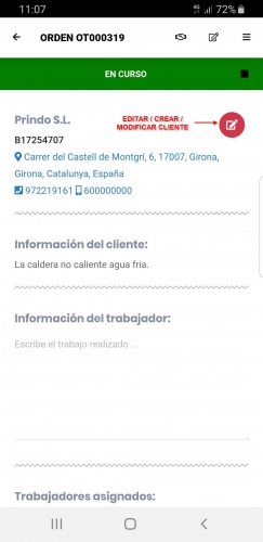 Crear o Editar el Cliente - App Móvil